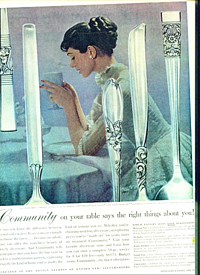 Community Silverware Ad 1956
