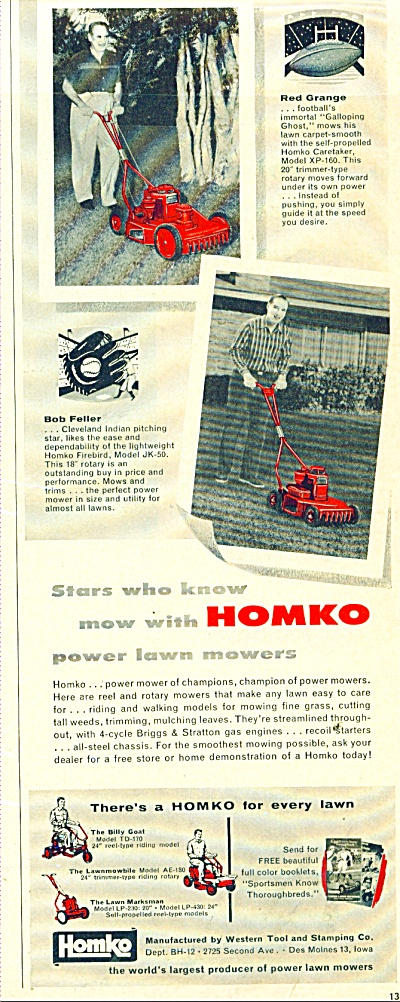 Homko lawn mowers ad (Image1)