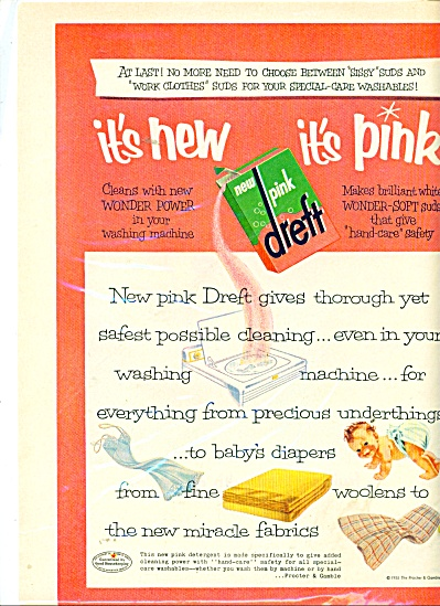 New Pink Dreft ad - 1956 (Image1)