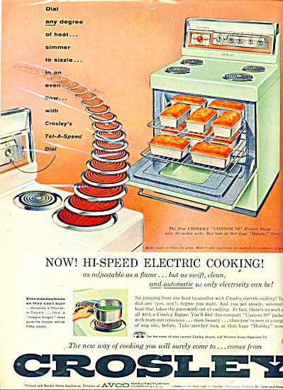 Crosley electric cooking ad 1956 (Image1)