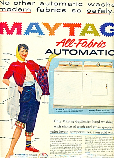 Maytag all fabrtic automatic washer ad 1956 (Image1)