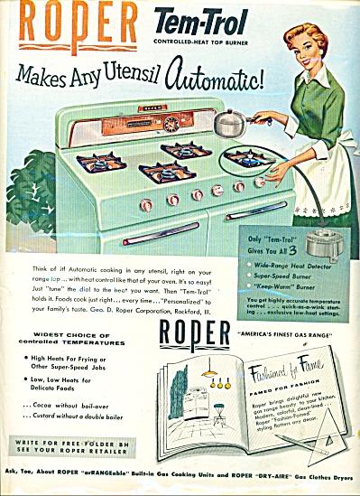Roper tem trol automatic stove ad 1956 (Image1)