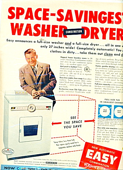 Easy combination washer-dryer ad 1956 A.GODFR (Image1)