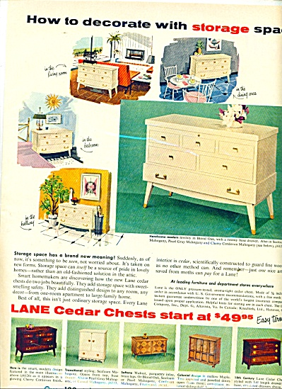 Lane Tables Ad 1956