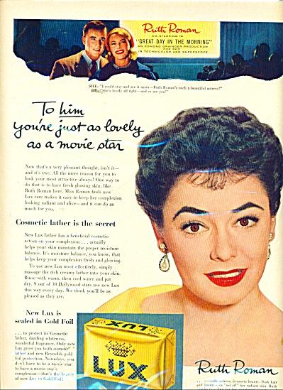 Lux soap - RUTH ROMAN  ad 1956 (Image1)