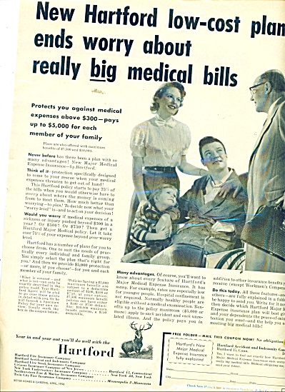 1956 Hartford Insurance Co AD PAY THE BILLS (Image1)