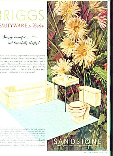Briggs beautyware Sandstone ad 1952 (Image1)