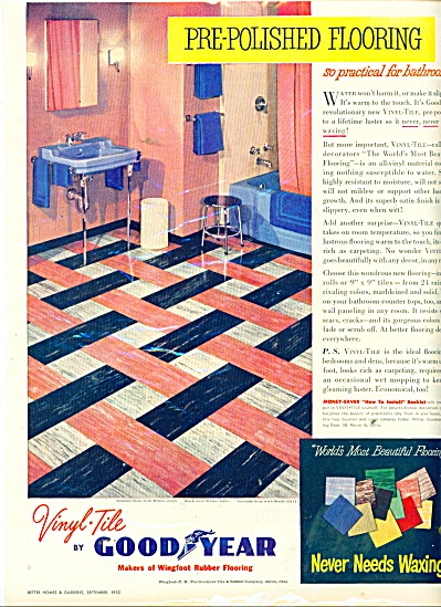 1952 Goodyear Tile AD RETRO Bathroom DESIGN (Image1)