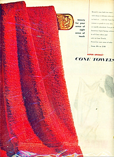 Cone Towels From Cone Mills Ad 1972