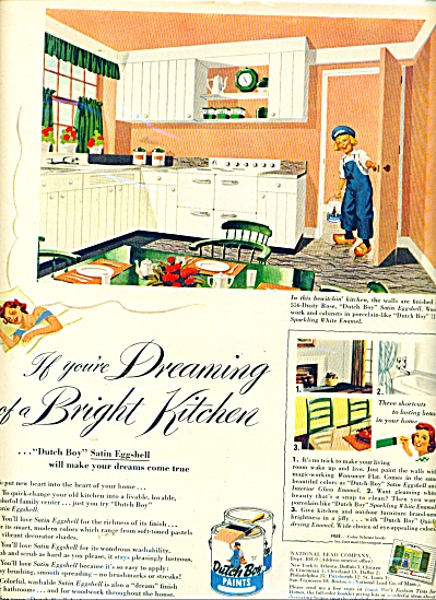 Dutch Boy paints, enamels , varnishes ad 1952 (Image1)