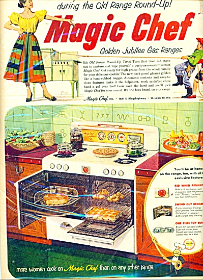 Magic Chef gas ranges ad 1952 (Image1)
