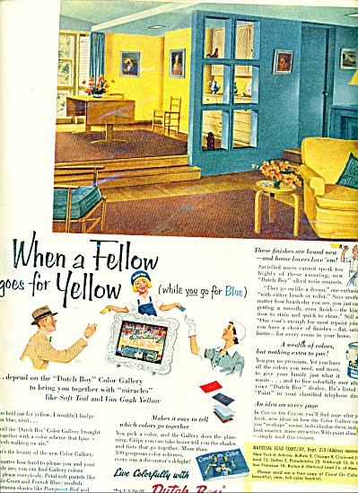 Dutch boy paints- enamels- varnishes ad 1953 (Image1)