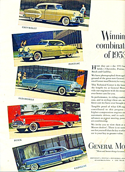 General Motors automobiles 1953 ad (Image1)