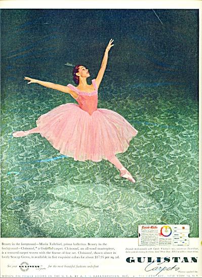 1953 Gulistan AD MARIA TALLCHIEF Ballerina (Image1)