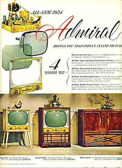 Admiral Television Ad 1953