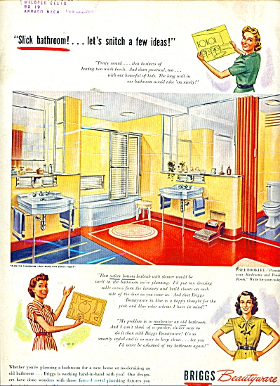 Briggs Beautyware ad 1945 RETRO DESIGN (Image1)