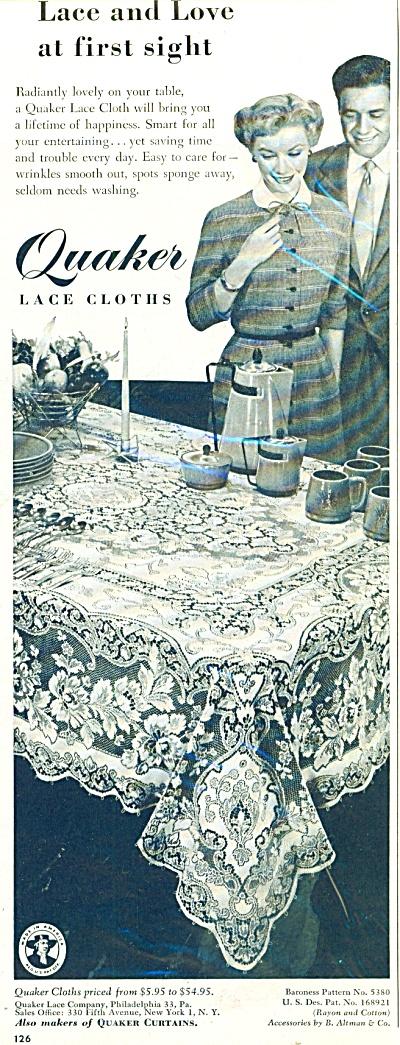 Quaker lace cloths ad Vintage AD (Image1)