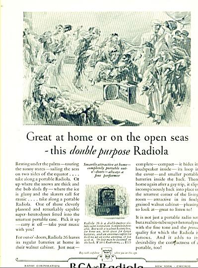1927 RCA Radiola  AD Radio Vintage ART SIP (Image1)