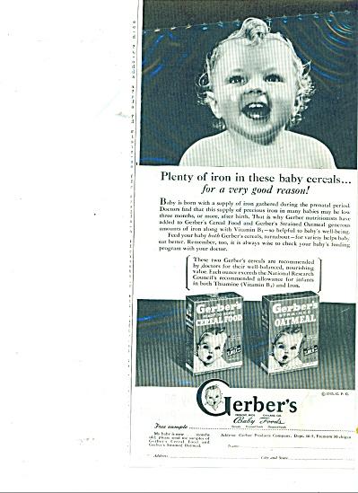 Gerbers baby foods ad 1945 (Image1)