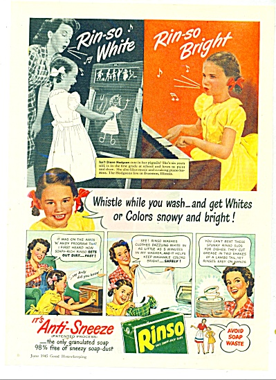 Rinso washer clothes ad 1945 (Image1)