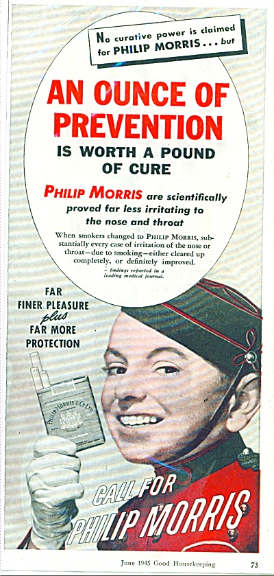 1945 Call for Philip Morris Cigarette AD JOHN (Image1)