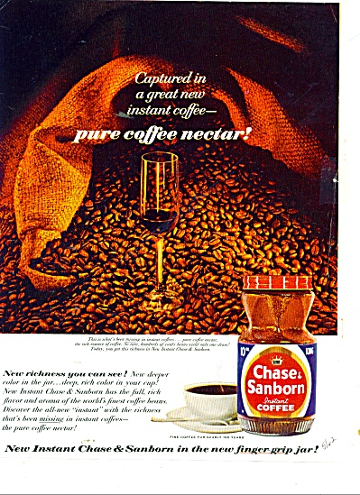 Chase & Sanborn Instant Coffee Ads 1962