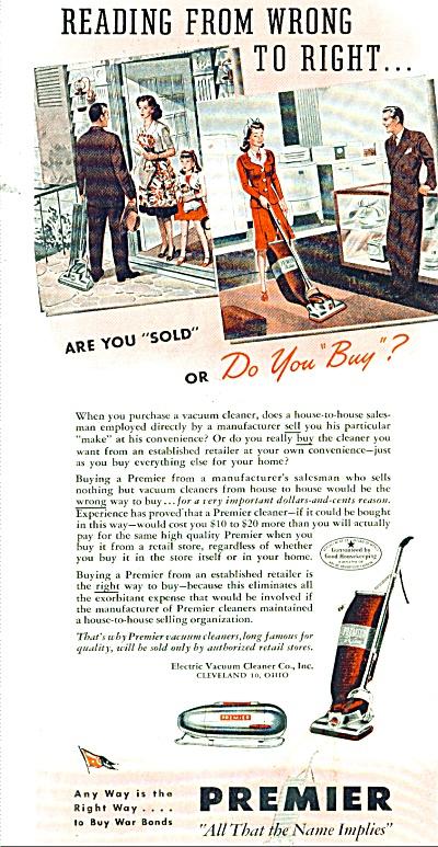 Premier vacuum cleaner ad 1945 (Image1)