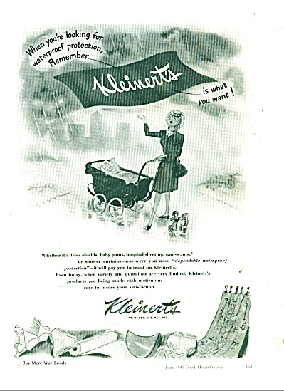 Kleinert's products ad  1945 (Image1)