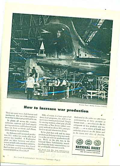 1945 National Dairy AD Boeing Air Witchita KS (Image1)
