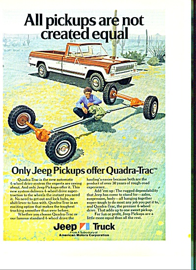 Jeep  Truck  ad 1973 (Image1)