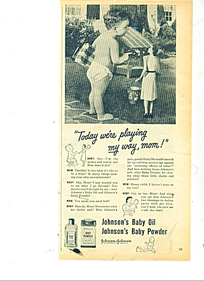 Johnsons baby oil and baby powder.ad (Image1)