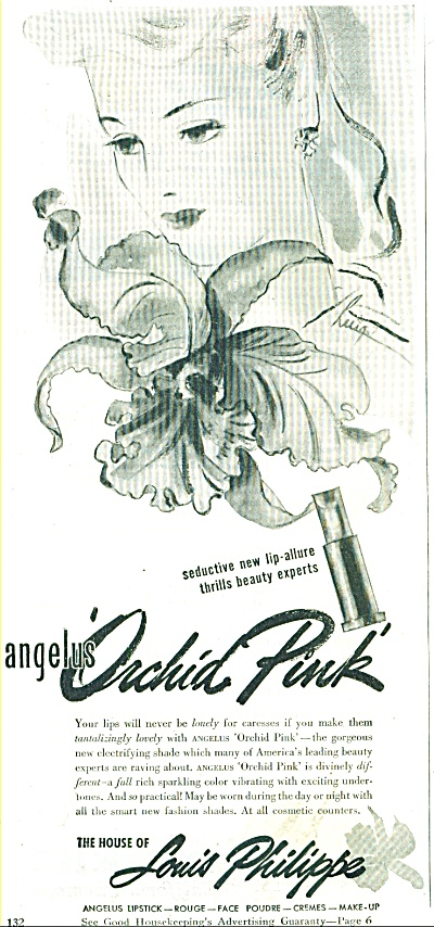 1945  House of Philippe AD Cosmetics ARTWORK (Image1)