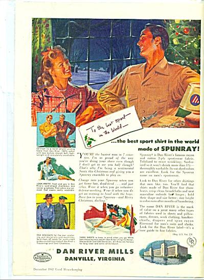 1942 Dan River Mills Clothing AD Vintage ARTW (Image1)