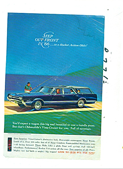 Oldsmobile Vista Cruiser Ad For 1966