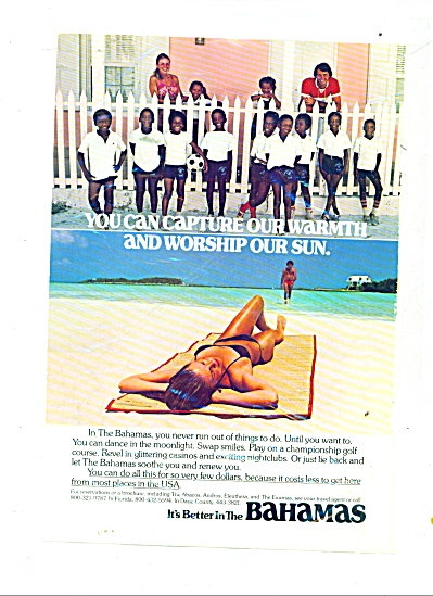 Bahamas travel ad (Image1)