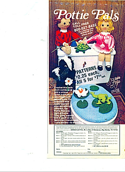 Pottie Pals - Annies attic ad  1980 (Image1)