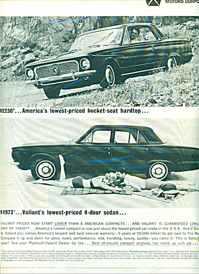 Plymouth Valiant automobiles for 1963 (Image1)