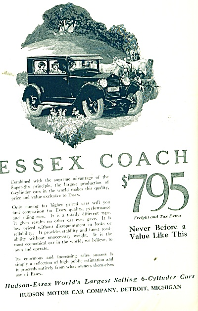 Essex  Coach automobile ad   1926 (Image1)