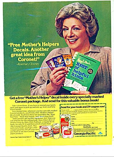 Georgia Pacific - ROSEMARY CLOONEY  ad 1980 (Image1)