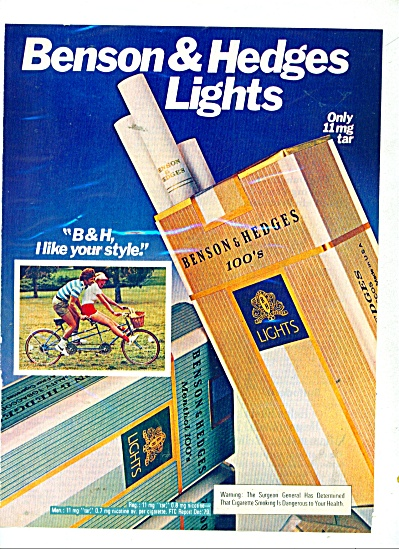 Benson & Hedges lights ad 1980 (Image1)