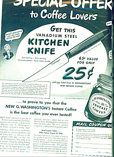G. Washington Instant coffee ad (Image1)