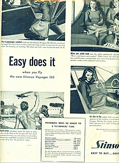 Stinson aircraft ad (Image1)