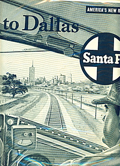 1953 Santa Fe Railroad Trails AD 2pg (Image1)