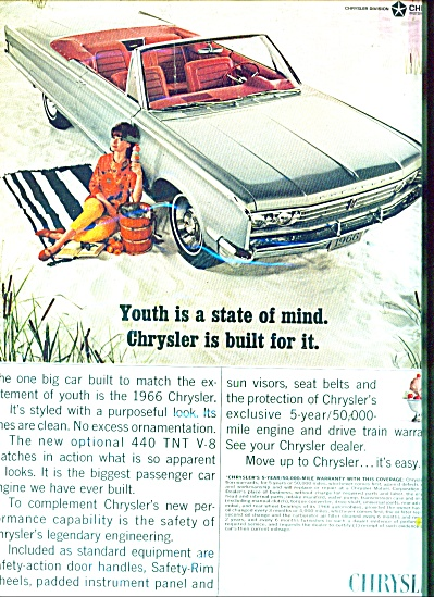 1966 Chrysler Convertible PROMO CAR AD (Image1)