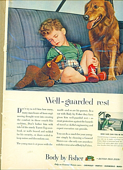 Body by Fisher ad BOY AT PEACE WITH THE WORLD (Image1)