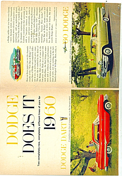 1960 DODGE DART PROMO CAR AD (Image1)
