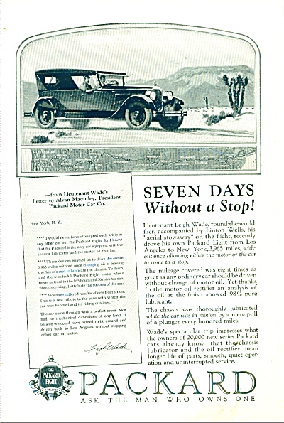 1925 PACKARD Motor CAR PROMO AD Automobile (Image1)