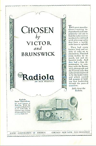 1925 RADIOLA Super HETERODYNE RADIO Promo AD (Image1)