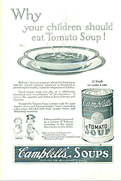 Campbell's Tomato Soup Ad 1925