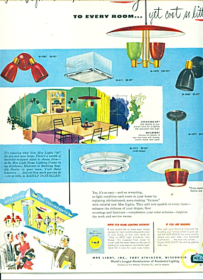 Moe Light Company Lights RETRO Chandeliers AD (Image1)